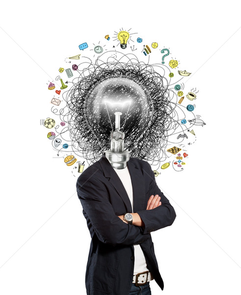 lamp head man have got an idea Stock photo © leedsn