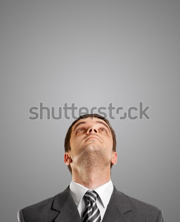 Stock photo: Businessman Looking Upwards
