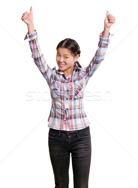 Asian Girl With Well Done Stock photo © leedsn