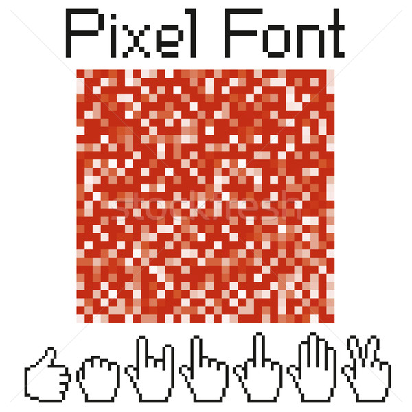 pixel font Stock photo © leedsn