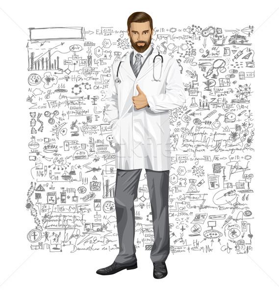 вектора врач стетоскоп человека хорошо бизнеса Сток-фото © leedsn