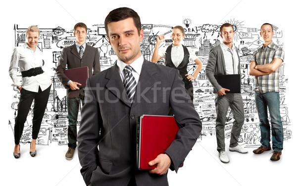 Business team verschillend achtergronden business man zakenman Stockfoto © leedsn