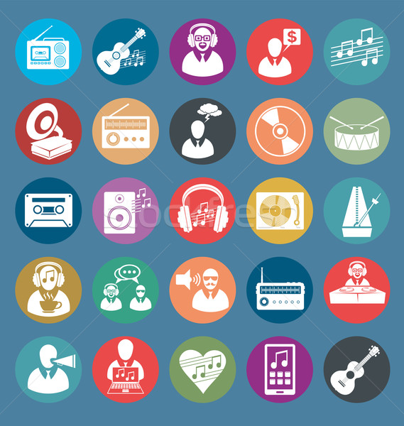 Vector Flat Style Icons Stock photo © leedsn