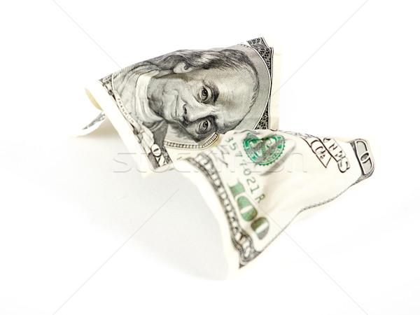 Abstract dollar witte een honderd achtergrond Stockfoto © leedsn