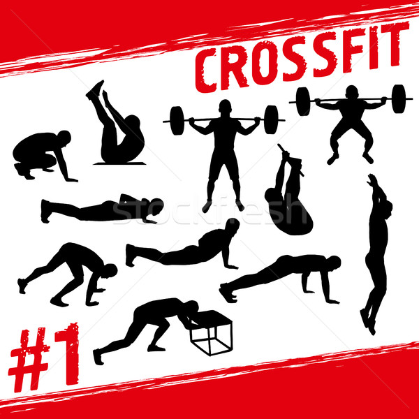 Crossfit concept Stock photo © leedsn
