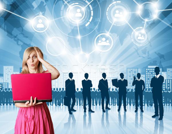 Business Man Employer Stock photo © leedsn