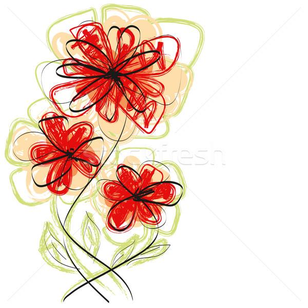 вектора цветы стороны эскиз воды цвета Сток-фото © leedsn