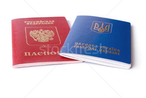 ロシア イド 孤立した 白 紛争 2 ストックフォト © leedsn