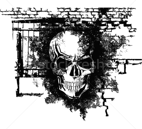 Human Halloween Skull Stock photo © leedsn