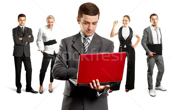 Business team teamwerk verschillend achtergronden man vergadering Stockfoto © leedsn