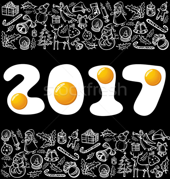 Vector eggsnumbers 2017 Stock photo © leedsn