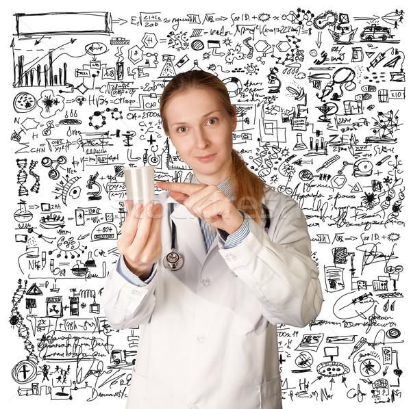 Medico donna Cup analisi urine sperma Foto d'archivio © leedsn