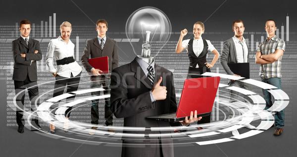 Business Team With Lamp Head Stock photo © leedsn