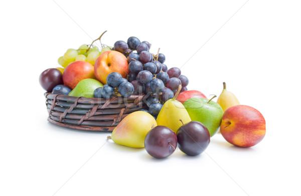 Gyümölcsök egyezség keverék különböző friss érett Stock fotó © Leftleg