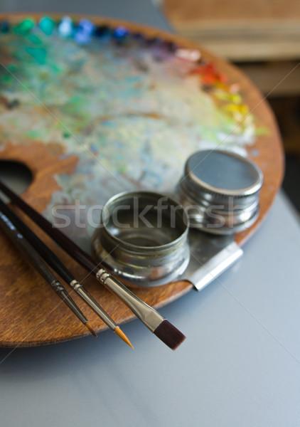 Paint palette Stock photo © Leftleg