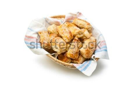 Sütemény frissen sült sajt szezámmag fonott Stock fotó © Leftleg