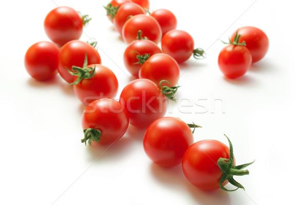 Koktélparadicsom friss izolált fehér étel levél Stock fotó © Leftleg