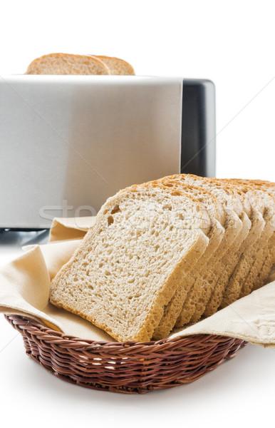 тоста хлеб Ломтики хлопка ткань Сток-фото © Leftleg