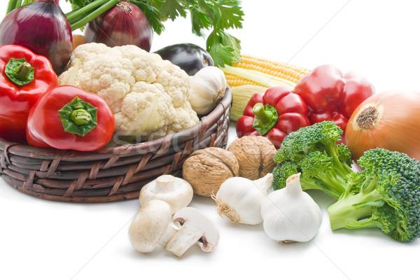 Gemüse Mischung frischen voll legen Stock foto © Leftleg