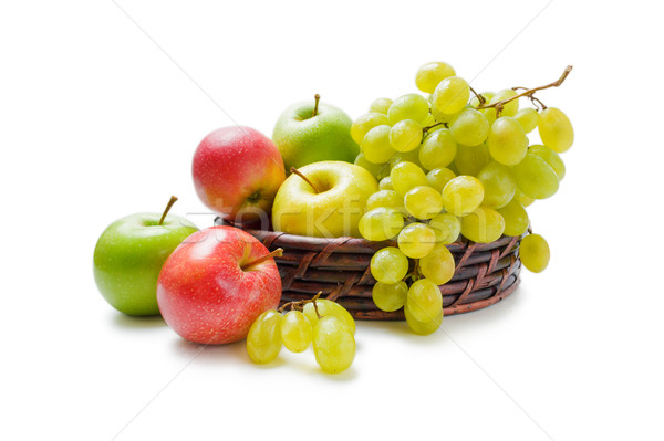 Apples and grapes arrangement Stock photo © Leftleg