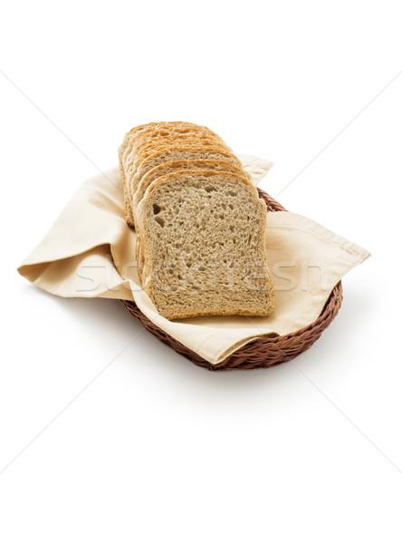 Toast bread in a basket Stock photo © Leftleg
