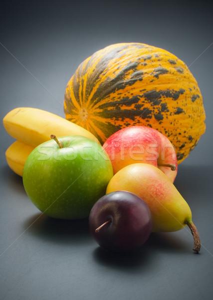 Früchte frischen voll farbenreich Pflaume Birne Stock foto © Leftleg