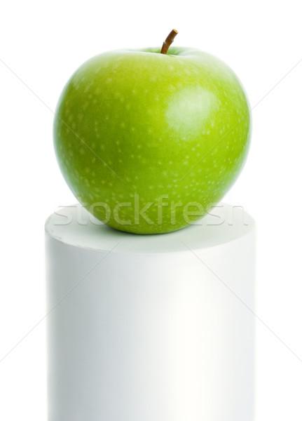 Zöld alma friss érett felső fehér Stock fotó © Leftleg