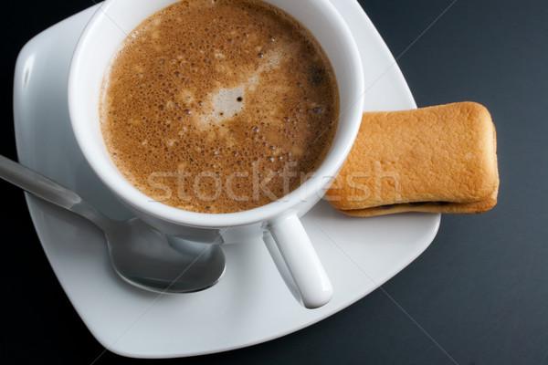 Kávé fehér porcelán csésze frissen felső Stock fotó © Leftleg