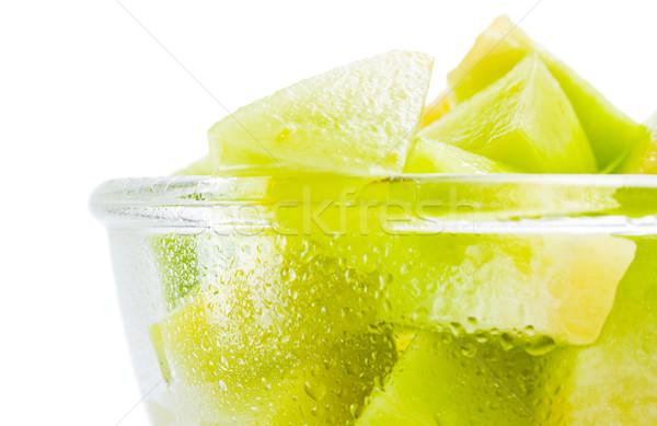 Melone fresche pezzi vetro Foto d'archivio © Leftleg
