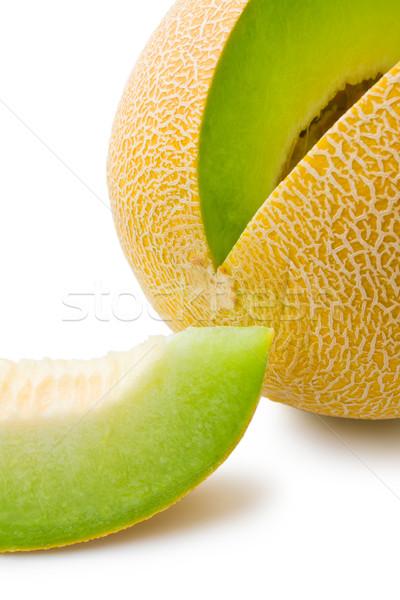 Melone Scheibe voll frischen isoliert Stock foto © Leftleg