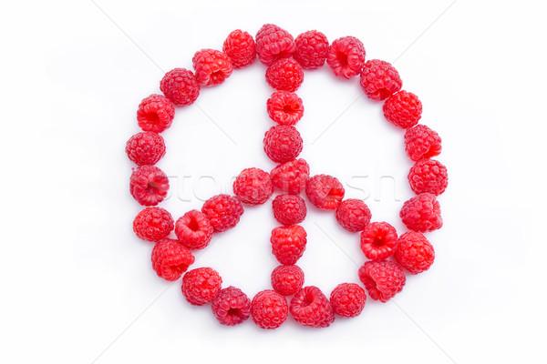 Framboesas forma símbolo paz fresco hippie Foto stock © Leftleg
