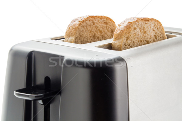 Stockfoto: Toaster · brood · elektrische · twee