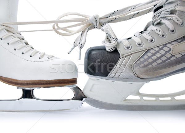 Ice skates tied against each other Stock photo © Leftleg