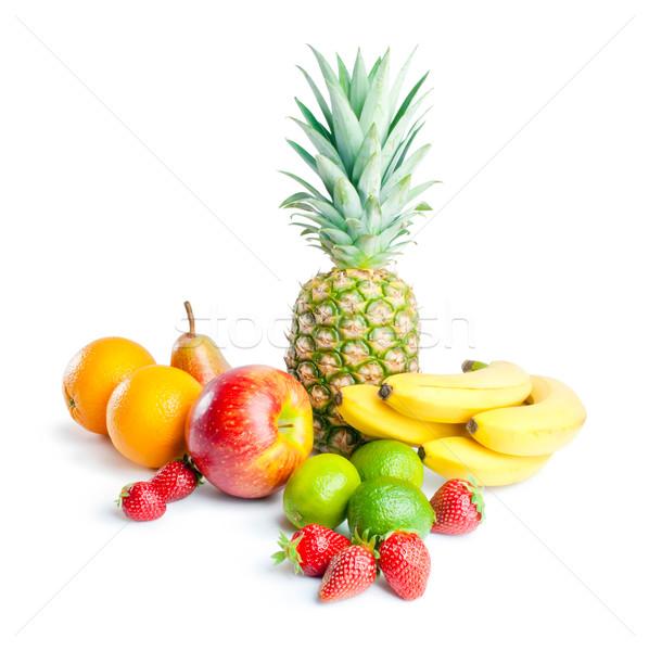 Gyümölcsök egyezség különböző friss érett ananász Stock fotó © Leftleg