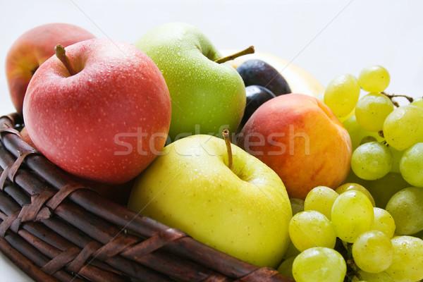 Gyümölcsök különböző friss érett közelkép fonott Stock fotó © Leftleg