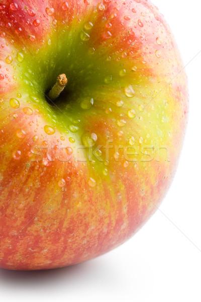 Alma friss nagy piros alma vízcseppek közelkép Stock fotó © Leftleg