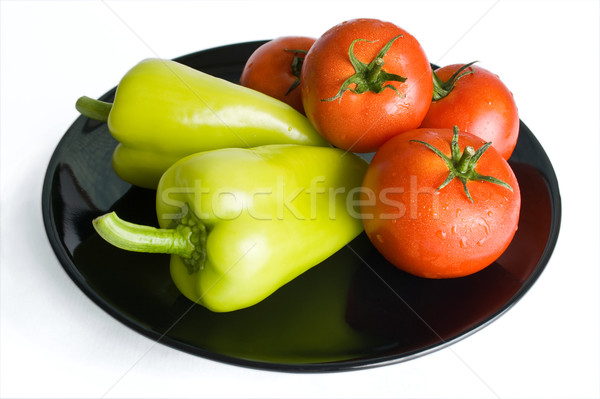 Peppers and tomatoes Stock photo © Leftleg