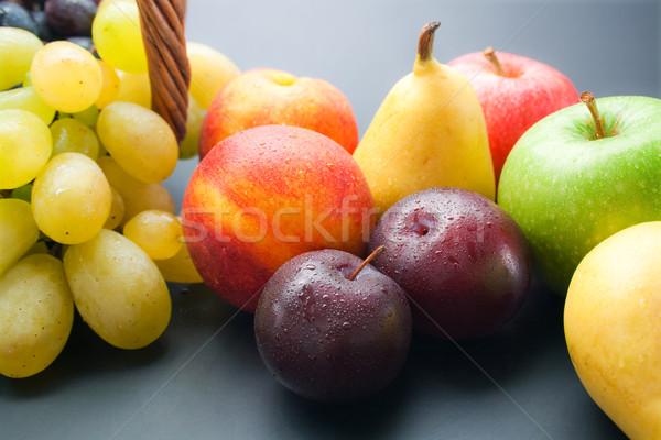 Früchte unterschiedlich frischen voll Pflaumen Stock foto © Leftleg