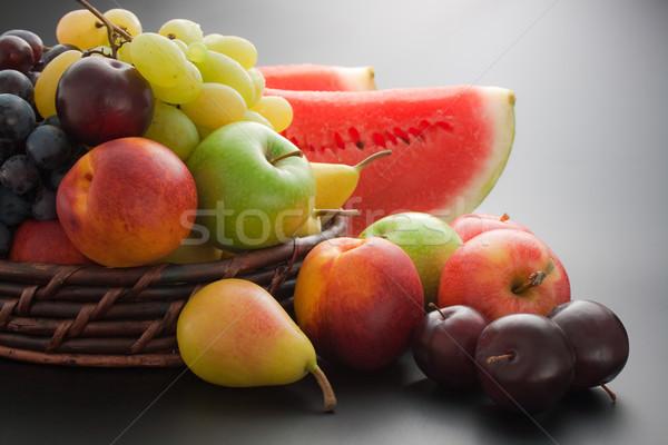 Foto stock: Frutas · fresco · maduro · cesta
