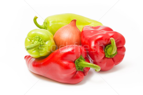 Peppers and onion Stock photo © Leftleg