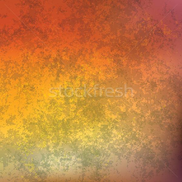 Absztrakt grunge rozsdás tányér narancs háttér Stock fotó © lem