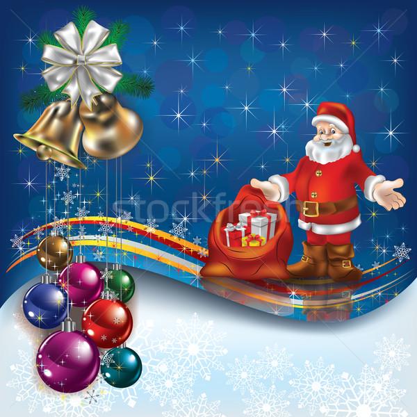 Рождества приветствие аннотация подарки дерево Сток-фото © lem