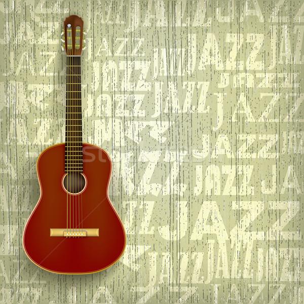 Abstrato jazz grunge clássico guitarra música Foto stock © lem