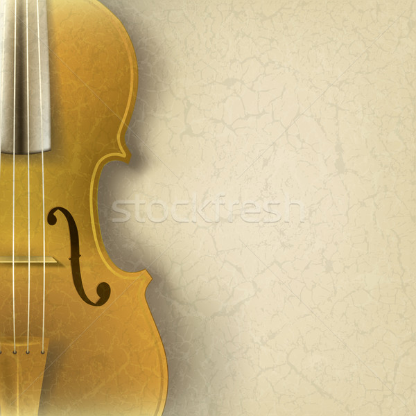 abstract grunge music background with violin Stock photo © lem