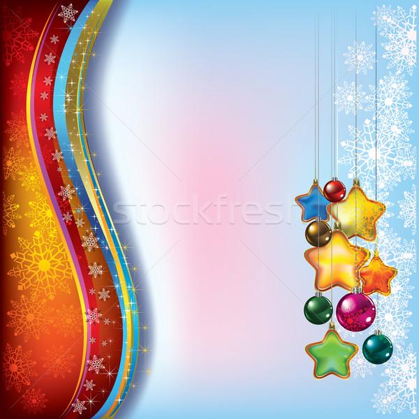 аннотация Рождества украшения дерево свет Сток-фото © lem