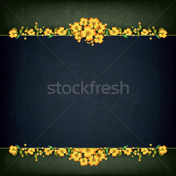 abstract grunge background with floral ornament Stock photo © lem