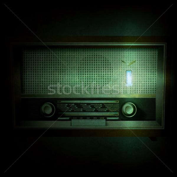 Soyut grunge Retro radyo siyah dizayn Stok fotoğraf © lem