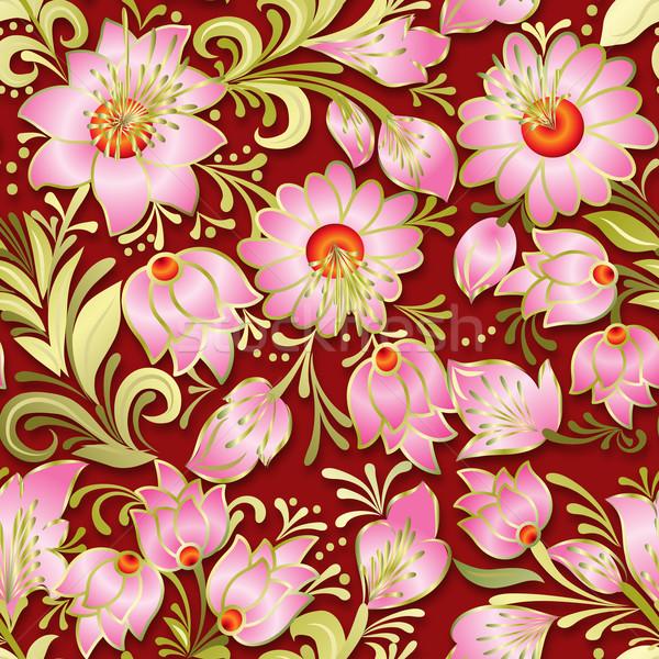 аннотация Vintage бесшовный весны цветочный орнамент Сток-фото © lem