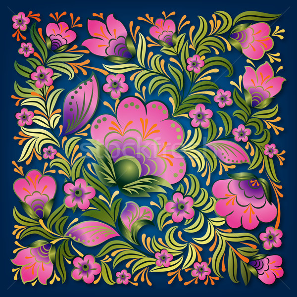 Resumen verano floral ornamento rosa azul Foto stock © lem