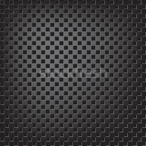 Stock photo: Texture of square metalic mesh